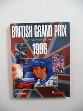 British Grand Prix à Silverstone, 1996. Fine Livre. Sport Automobile.