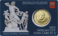 Vatikan 50 Cent 2012 Coincard No.3