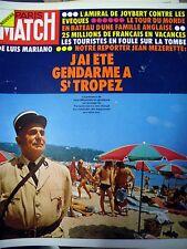 PARIS MATCH N° 1264 DE FUNES GENDARME A SAINT-TROPEZ VACANCES LUIS MARIANO 1973