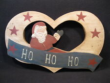Hand Crafted One of a Kind Folk Art Country Primitive Christmas Santa Wall Hang