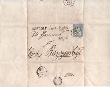 1856 Strubel ZNr. 23Cc (Mi 14IIAyo) auf Brief mit Pf. Kat. SBK Fr. 220+.–
