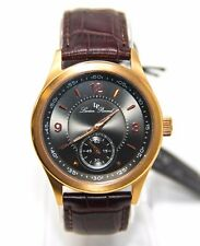 Lucien Piccard Grande Casse Men's Watch 11606-RG-01 Brown Face Leather Strap NEW
