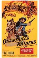 QUANTRILL'S RAIDERS Movie POSTER 27x40 Steve Cochran Diane Brewster Leo Gordon