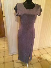 Vintage Silver Sparkle Gown by Designer Susan Roselli for Vijack EUC