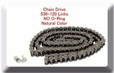 Drive Chain Natural Color 530 x120 Link For Harley Honda Kawasaki (NO O-RING)