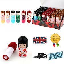 Box 24 Kimono Doll Lip Balm Gloss Lipstick Children's Kids Girls Beauty Make up