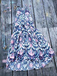 Abercrombie Kids ~ Girls Pink Blue Print Dress ~ Size 10