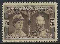 Scott 96 - 1/2c Brown Black 1908 Quebec Tercentenary Prince of Wales, VF-NH