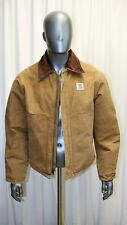 Blouson veste work jacket CARHARTT marron doublure matelassée T 44US made in USA