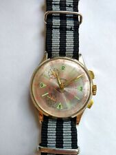 Vintage Lucerne Mechanical Wind Chronograph Telemeter Watch Running Excellent