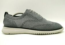 Cole Haan Zerogrand Gray Knit Wingtip Lace Up Fashion Oxfords Shoes Men's 10 M
