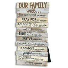 Lighthouse Christian Our Family Will Scripture Sign Wall Desktop Plaque