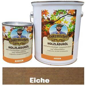 (10 €/L) 0,75 L Eiche Holzmichel Holzlasuröl Wetter Langzeitschutz, Außenbereich