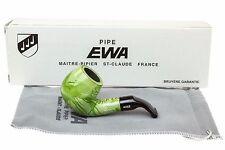 Ewa Lilou Green Smooth Tobacco Pipe