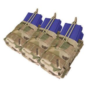 Condor Tactical 5.56 Triple Stacker Magazine Pouch Multicam MA44-008 MOLLE