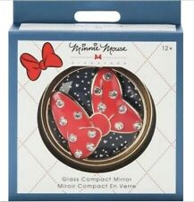 Disney Store Minnie Mouse Signature Glass Compact Mirror - New