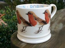 EMMA BRIDGEWATER original early . Robin . Baby MUG . Birds . Christmas