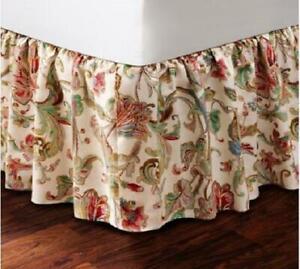 Ralph Lauren ANTIGUA FLORAL Cal King Bedskirt 1st Quality MSRP NIP $142 DISC HTF