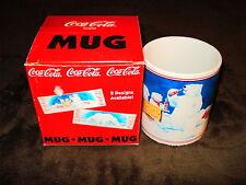 """COCA-COLA 1996 POLAR BEARAND CUBS  """"DRINK STAND"""" MUG"""