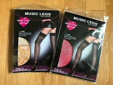 Pantyhose Fishnet Tights Lingerie Nylon Spandex Beige and Red Adult