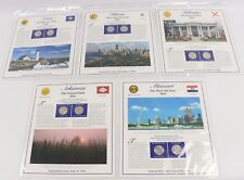 2003-P/D Statehood Quarter Postal Commemorative Society 5-Panel/10-Coin Set PCS