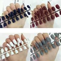 Fake Nails Matte False Nail 24PC Detachable Tips For Nail Extension Manicure Art