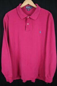 Polo Ralph Lauren Mens sz XLT Tall Magenta SS Mesh Shirt Aqua Blue Pony