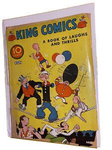 KING COMICS #2 POPEYE 2nd APPEARANCE / SUPER RARE / CGC IT / GOOD / FLASH GORDON