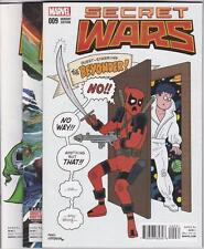 SECRET WARS  #9 COMIC SET (2016) MARVEL, INCLUDES 2 VARIANTS,