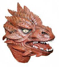 RED Dragon Mask Gioco di ruolo lattice cosplay costume HALLOWEEN FANTASY
