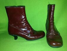 Red La Canadienne Ankle Boots 6.5
