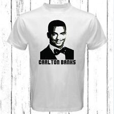 Carlton Banks American Logo Men's White T-Shirt Size S-3XL