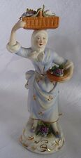 Thüringen Sitzendorf Porzellan Figur Frau Blumenmagd porcelain figurine Bisquit