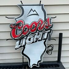 "Coors Beer Neon Tube Sign Bar Light Big Size 30""x21"" - Not Working"