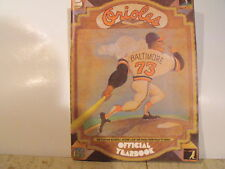 Vintage Baltimore Oriole Yearbook From 1973