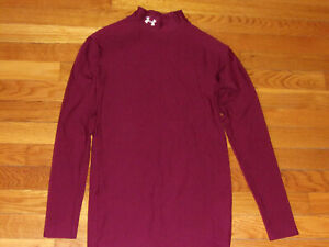 UNDER ARMOUR COLDGEAR LONG SLEEVE MOCK COMPRESSION JERSEY MENS MEDIUM NICE COND.