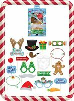 Xmas Party Photo Props Mixed Designs Christmas Works Party Fun Prop Set