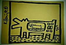 KEITH HARING ORIGINAL SIGNED DRAWING rare marker drawing