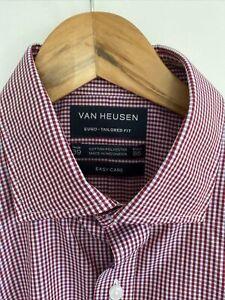 Van Heusen Red Striped Business Shirt Size 39