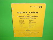 1950 1951 1952 1953 1954 DUPONT TRUCK PAINT CHIPS CHEVROLET GMC FORD DODGE MACK