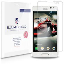 iLLumiShield Phone Screen Protector w Anti-Bubble/Print 3x for LG Optimus F7