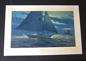 John Barber  - Off Windmill Point  -  Nautical Print - MINT