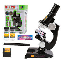 Children's Kids Junior Microscope Science Lab Set with Light Education Toy Gifts