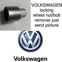 VOLKSWAGEN LOCKING WHEEL BOLT/NUT REMOVER KEY ALL NUMBERS JUST SEND PICTURE