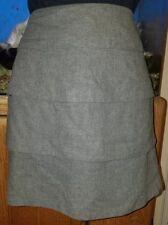 New Veronika Maine Tiered Gray Wool Blend Skirt Size 8