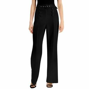 INC NEW Women's Hi-rise Sailor-button Belted Wide-leg Casual Pants TEDO