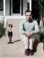 8x10 Print Buster Keaton Colorized Portrait #BKAF