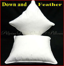 HUNGARIAN GOOSE 50% DOWN  2 SCATTER INSERT CUSHIONS 50 X 50CM  100% COTTON COVER