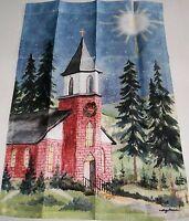 "Decorative Garden Flag 12 1/2' x 18""  Church in Country Setting"