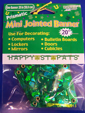 Happy St. Pats Patrick's Day Party Decoration Hanging Mini Jointed Letter Banner